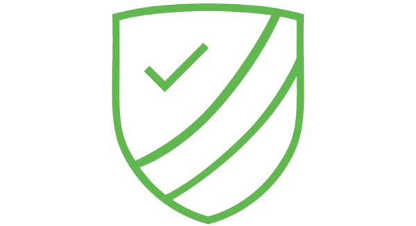 a green icon of hands shaking