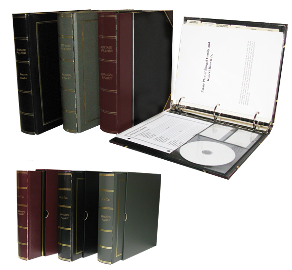 Image of our heavy duty/royal estate planning kit.