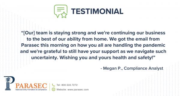 Parasec Client Testimonial - Megan P